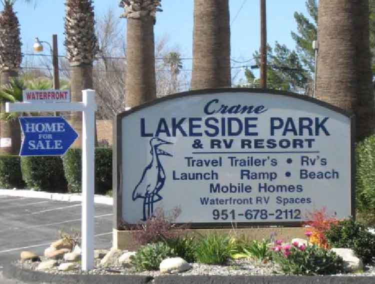 Crane Lakeside Mobilehome Park RV Resort Lake Elsinore CA